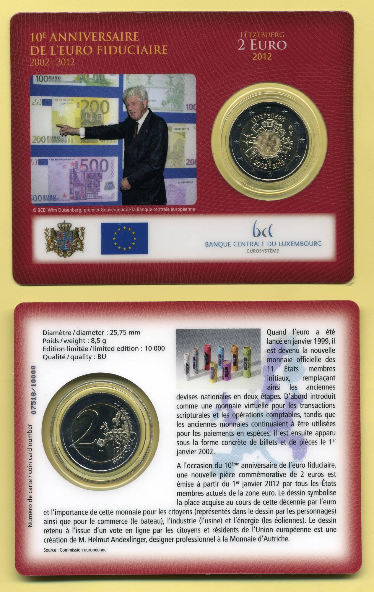 2 Euro Münzen Aus Luxemburg